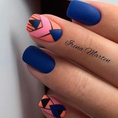 27 Stunning Examples of Cobalt Blue Nails For Elegant Ladies ️ Stylish Tribal Pattern… - Colorful Nail Designs, Nail Art Designs, Nail Patterns, Pattern Nails, Tribal Patterns, Cobalt Blue Nails, Rose Nail Design, Marble Nails Tutorial, Nail Pictures
