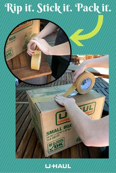 Packaging paper tape allows you to forget the scissors and get your moving day going! It's as simple as ripping and sticking it to your boxes. Stock up before moving day! I Packing for a Move