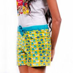 ELEPHANT PATTERN YELLOW BOXER SHORT