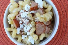 Three-cheese cavatappi with smoked sausage | Meals & Moves
