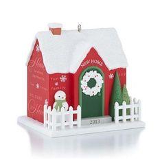 New Home - 2013 Hallmark Ornament - Red House - Love Lives Here - Family - NIB #Hallmark