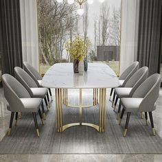 Dining Table - Furniture Buying And Taking Care Of Your Home Furnishings Luxury Dining Tables, Furniture Dining Table, Luxury Dining Room, Modern Dining Table, Modern Dining Room Sets, Chairs For Dining Table, Kitchen Furniture, Faux Marble Dining Table, Stainless Steel Dining Table