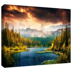 'Mountain View' by Revolver Ocelot Photographic Print Gallery-Wrapped on Canvas