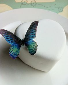 edible butterfly decoration