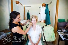 Here I am doing what I love to do. #bride #Weddings #MakeupArtist #Cabo #LosCabos #cabowedding