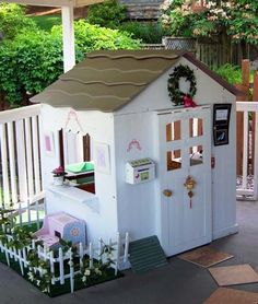 A Gorgeous, Girly Playhouse #playhouse #outdoors #girlyspaces