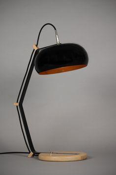 Lampe Rodha TBL noir/cuivre par Lampari | Le Cent 9