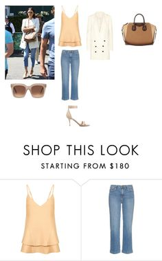"""""""Irina Shayk and Bradley Cooper attend Wimbledon Champion ships together"""" by aylinbagirova ❤ liked on Polyvore featuring C/MEO COLLECTIVE and Frame Denim"""