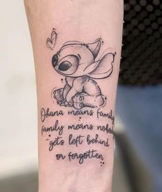 Simple Tattoo With Meaning, Simple Tattoos For Women, Butterfly Tattoos For Women, Cool Simple Tattoos, Cute Little Tattoos, Pretty Tattoos, Tattoo Ohana, Lilo And Stitch Tattoo, Paar Tattoos