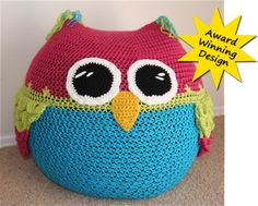 FabArtDIY Crocheted Owls Free Patterns - crochet beanbag owl pattern #crochet, #pattern, #owl, #beanbag