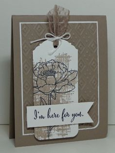 stampercamper.com - This was a card we did in my June card class.  I just love this pretty image and LOVE the new Tip Top Taupe.  Together they make such a classy card!  All the details on my blog.  Set:  You've Got This
