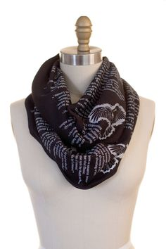 Wrap up with a good Book Scarf! Let everyone know about your great taste in books by wrapping a page of one around your neck. This infinity scarf