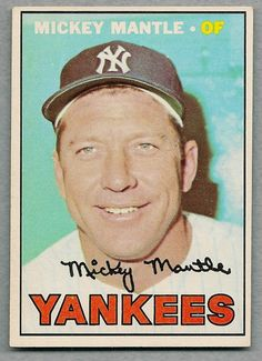 A favorite, iconic baseball card of the great Mickey Mantle — 1967 Topps Baseball Card