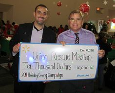 """Congratulations to Union Rescue Mission for winning a Walmart """"12 Days of Giving"""" grant! #walmart #"""