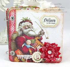 Christmas tag mini album