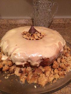 Bannana Cookie crumb cake #christibakes