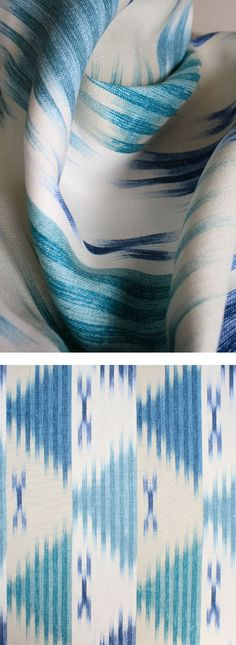 Manisa linen in Ocean from Tonic Living for Roman shades or any upholstery or home project.