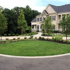 Half Circle Driveway Landscaping Ideas | Circular Driveway ...