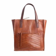 PIECES Tecla Leather Shopper cognac. bol.com