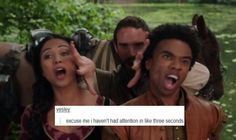 Galavant + Text Posts - excuse me I haven't had attention in like three seconds