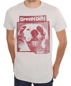 Green Day - Slappy EP Light Grey Distressed T-Shirt - Brand New #BayIsland #GreenDay