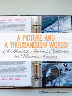 A Picture and 1000(ish) Words: A Monthly Journal Challenge for Memory Keepers | Marmalade Mementos