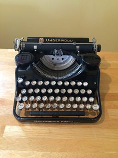 1930 Underwood Portable Typewriter w Case by Deco2Go on Etsy
