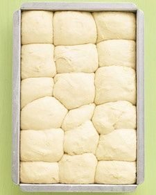 No-Knead Rolls. 'Even beginner-level bakers will have no trouble making these fluffy rolls; the dough can be prepped, put in the pan, and chilled up to a day ahead.'.