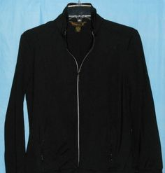 TOMMY BAHAMA 18 Golf  Women Jacket Size M -Fitted -Full Zip - Black