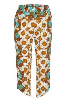 KISUA | Shop African Fashion Online - Batik print cropped pants