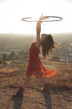 Lulu Lam hooping with a Hoopnotica hula hoop