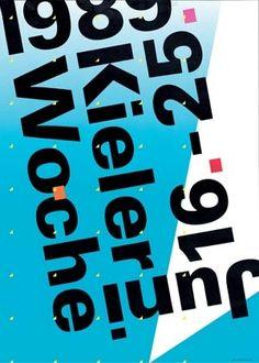 Nicolas Girard: Kieler Woche 1989: Originalentwurf, Farboffset 59,5 x 42 cm Herausgeber: Kieler-Woche-Büro des Presseamtes der Landeshauptstadt Kiel ...
