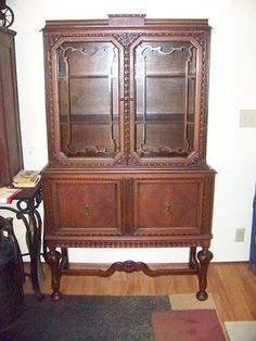 Not that I need a china cabinet in my life yet, but I love antique wood furniture