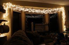 Doily christmas lights.