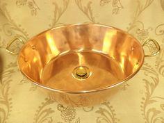 Modern Bathroom Sink, Copper Bathroom, Bathroom Basin, Bathrooms, Copper Taps, Brass Tap, Copper And Brass, Shabby Chic Style, Copper Kitchen Accessories