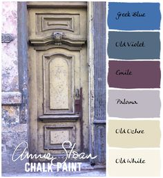 COLORWAYS. French Lavender palette as done by Annie Sloan