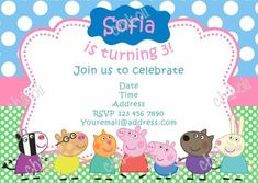 Peppa Pig Birthday Invitations Online