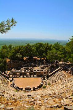 Theatre ruins at Priene, Turkey by Rad Wollf