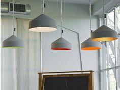 Lámpara colgante de resina CYRCUS CEMENTO - In-es.artdesign