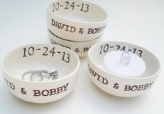 35 WHOLESALE 1-5 words int. and ext. CUSTOM WEDDING favor bridesmaids ring dish party favor custom favor personalize candle holder wedding on Etsy, $369.50 AUD
