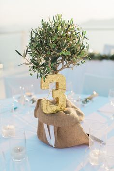 Image by Anna Rouses Photography - Jesús Peiró Bridal Separates   Tie the Knot Santorini Wedding Planners   Rocabella Hotel Venue   Elegant Olive Tree Decor   Anna Rouses Photography   http://www.rockmywedding.co.uk/eleanor-wayne/