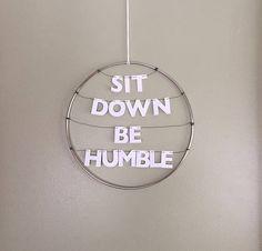 Kendrick Lamar Handmade Silver Metal Wreath Humble Rap Lyrics