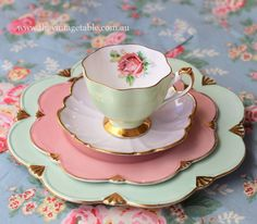 The Vintage Table Perth Gallery. Luxury vintage fine bone china tea sets, dinnerware and silver for high teas, weddings, bridal and baby showers for hire. Vintage Dishes, Vintage Tea, Vintage Table, Tea Cup Saucer, Tea Cups, China Tea Sets, Teapots And Cups, Mocca, My Cup Of Tea
