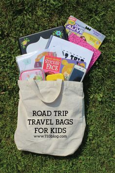 Road Trip Travel Bags for Kids - Activities to keep kids occupied in the car!