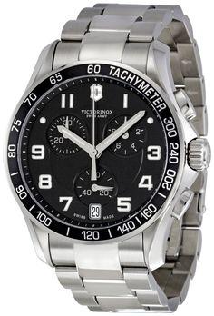 Victorinox Swiss Army Men's 241494 Black Dial Chronograph Watch, (watches, victorinox)