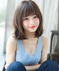 Asian Short Hair, Asian Hair, Girl Short Hair, Short Hair Cuts, Medium Hair Styles, Short Hair Styles, Hair Setting, Japanese Hairstyle, Shoulder Length Hair