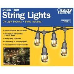 Feit Led String Lights Adorable Blooma Gelanor Battery Powered White 10 Led String Lights Design Ideas