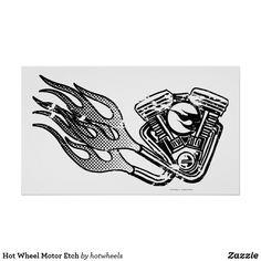 Hot Wheel Motor Etch