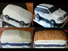 Queque Mercedes -- How to make a Mercedes car cake Bmw Cake, Jeep Cake, Ferrari Cake, Car Cake Tutorial, Fondant Cake Tutorial, Fondant Cakes, Elegant Birthday Cakes, 40th Birthday Cakes, Cake Machine