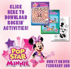 Disney Craft | Minnie Mouse Activity Sheets - Free Printables
